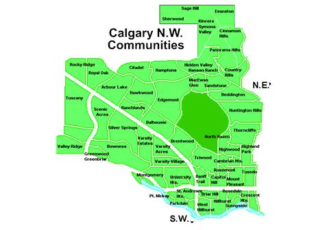 hairdressers north west calgary cakgary nw communities map kevin beutler