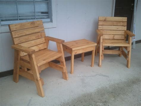 How To Build 2 Outdoor Arm Chairs And A Side Table Jays How To Build A Patio Chair