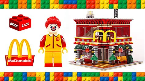 Set Mc K lego mcdonalds restaurant modular building unofficial set