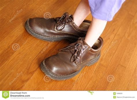 shoes for with big big shoes to fill stock photo image of grow challenge