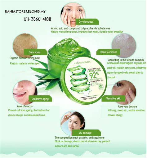 Review Dan Harga Nature Republic Aloe Vera harga spesifikasi nature republic aloe vera 92 soothing