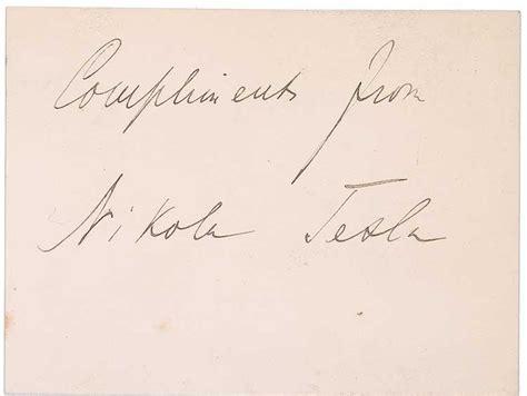 Nikola Tesla Autograph Nikola Tesla