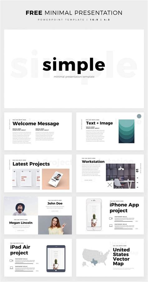 simple and clean powerpoint template free ppt theme