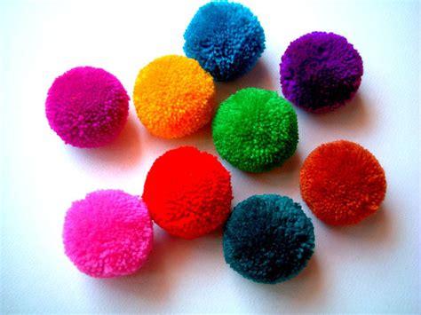 Handmade Pom Poms - yarn pom pom handmade pom pom yarn bead pink green