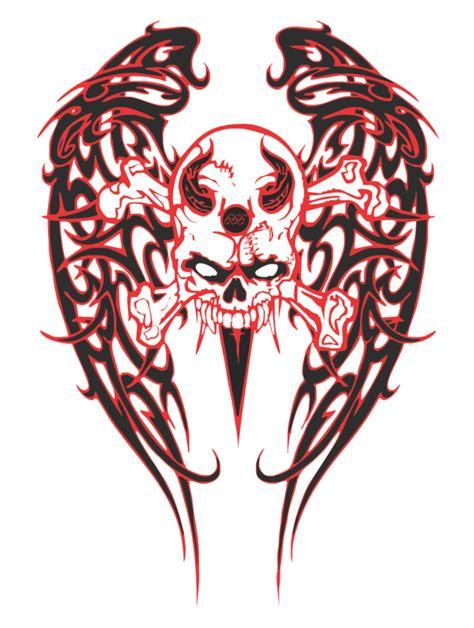 tattoo design skull png tribal skull wings by justinmain on deviantart