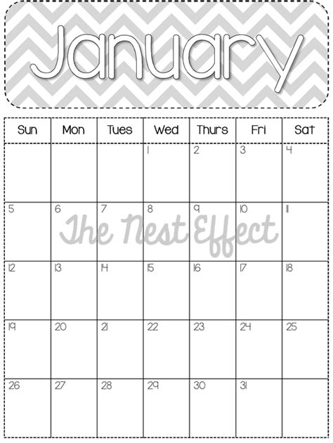 7 best images of free printable 2014 monthly calendars