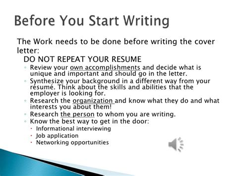 What Should A Resume Cover Letter Say