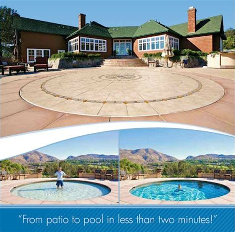 amazing technology turns a patio into a pool technology