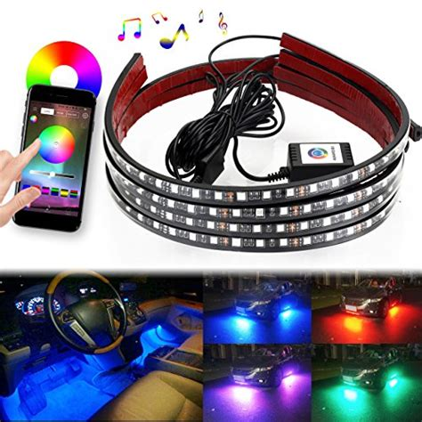 boat trailer underglow 7 color underglow led sound activated bluetooth