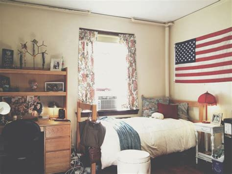 american room college room with american flag display home design and interior