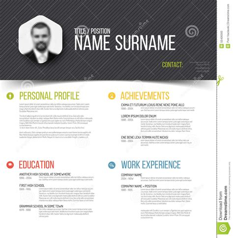 personal profile design templates personal profile template vector illustration
