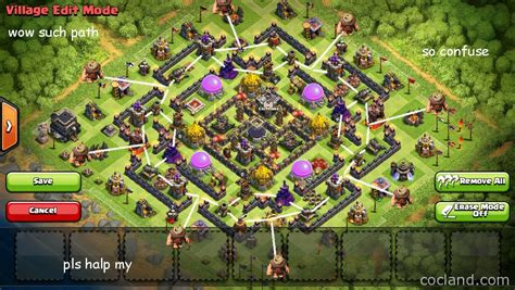 coc map layout th9 clash of clans guide arcanum staggering farming layout