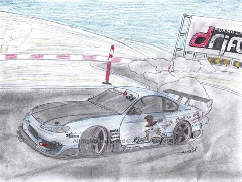 nissan silvia drawing nissan silvia s15 drift by dr31 on deviantart