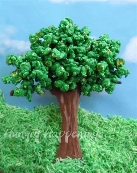 How To Make A Bush Out Of Paper - chocolate popcorn trees hungry happenings recipes