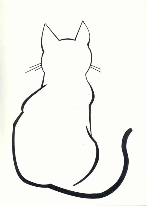 tattoo cat drawing diy cat silhouette pillow cases cat outline tattoo cat