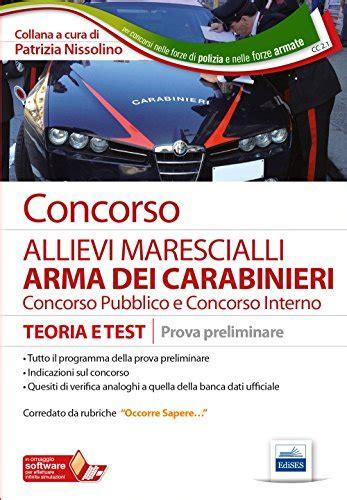 simulazione test carabinieri concorso allievi marescialli arma dei carabinieri teoria