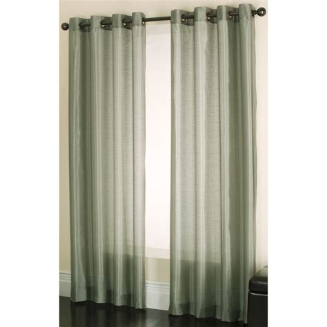 Sheer Green Curtains Allen Roth Drape Curtain Green Edistone Sheer Grommet Top Panel 52x84 Taupe Nip Ebay