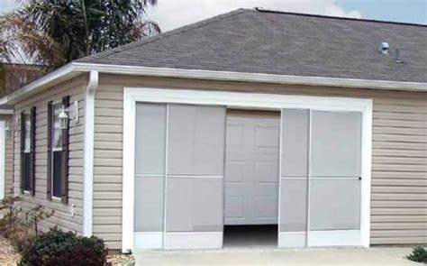 Sliding Garage Door Screens From Killian S Of Palm Coast Fl Sliding Screen Doors For Garage