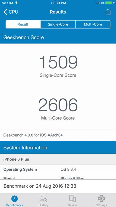 geek bench geekbench 4 on the app store