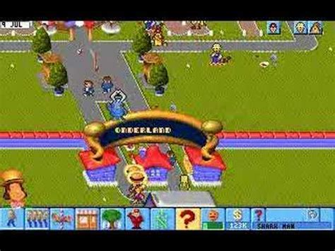 theme park video game theme park gameplay youtube