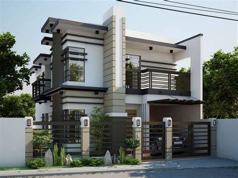 modern two storey house plans garage modern house design