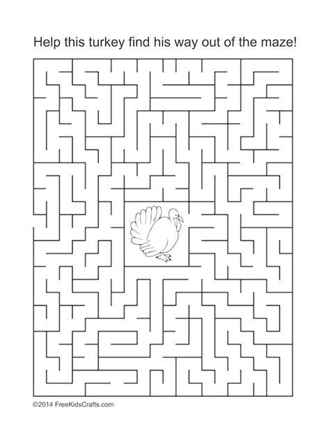 free printable turkey mazes printable mazes for thanksgiving happy easter