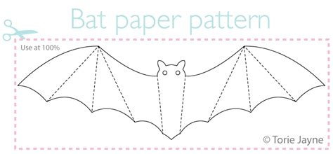 How To Make A Bat With Paper - paper bat pattern torie jayne