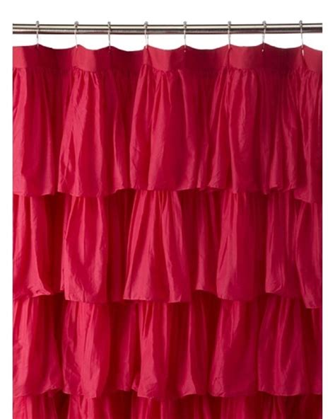 india rose shower curtain india rose magenta ruffled shower curtain hot pink 72 x