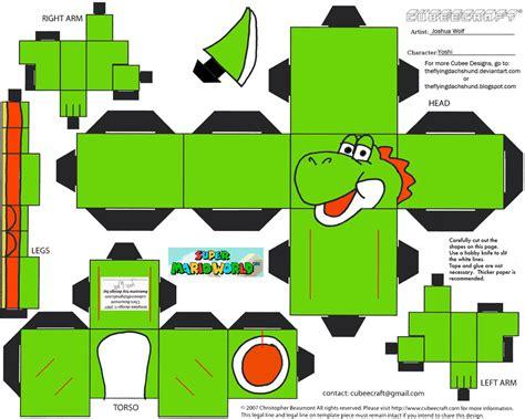 Yoshi Papercraft - vg 4 yoshi cubee by theflyingdachshund on deviantart