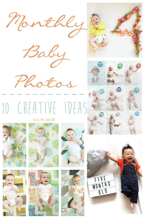Creative Monthly Baby Photos Hello My Love Blog Monthly Baby Photo Template