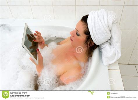 sexy bathtub with ipad in bath royalty free stock photos image 34244858