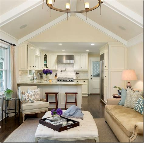 open floor plan kitchen family room family room kitchen open floor plan white kitchen cabinets white subway tile wood
