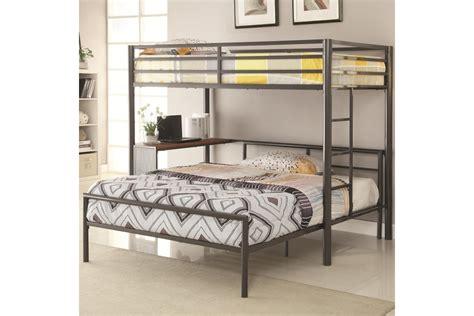 Bunk Bed With Workstation Bunk Beds Loft Beds Metal Loft Bunk Bed W Workstation Newlotsfurniture