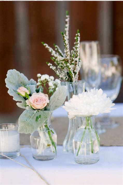 Small Vase Arrangements by Mixed Bud Vase Centerpieces Wedding Floral