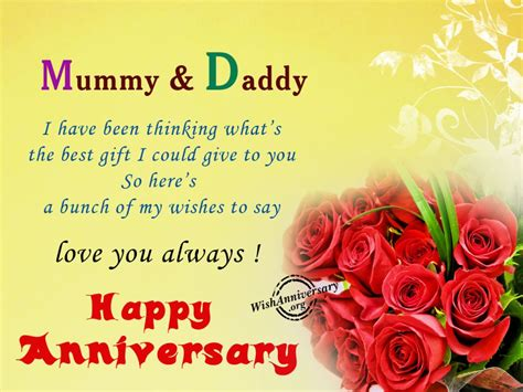 Wedding Anniversary Greetings For Parents by Anniversary Wishes For Parents Wishes Greetings
