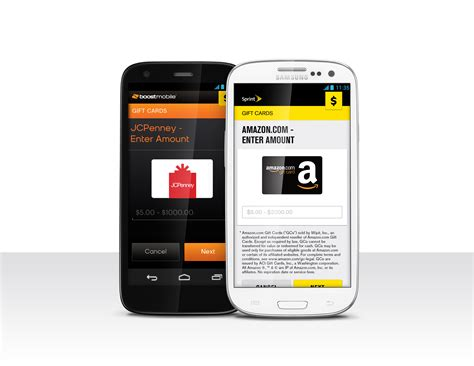 Boost Mobile Gift Card - egift card feature added to boost mobile wallet and sprint money express boost