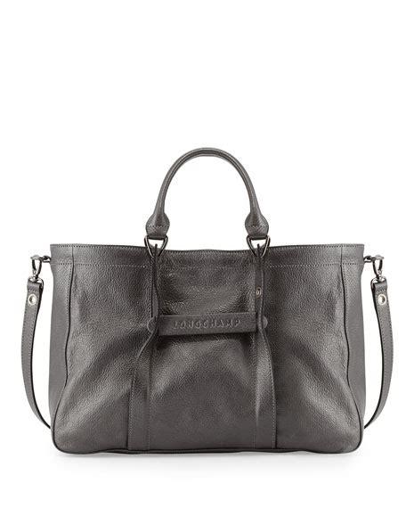 Tas Longch 3d 2 longch longch 3d leather tote bag iron