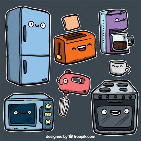 dibujos infantiles utensilios de cocina utensilios de cocina en estilo de dibujos animados