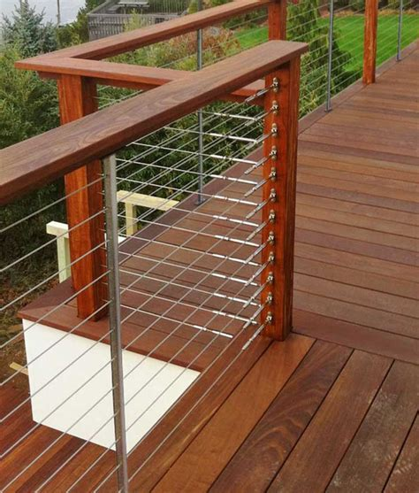 deck railing ideas feeney cable rail for wood deck railing with connect