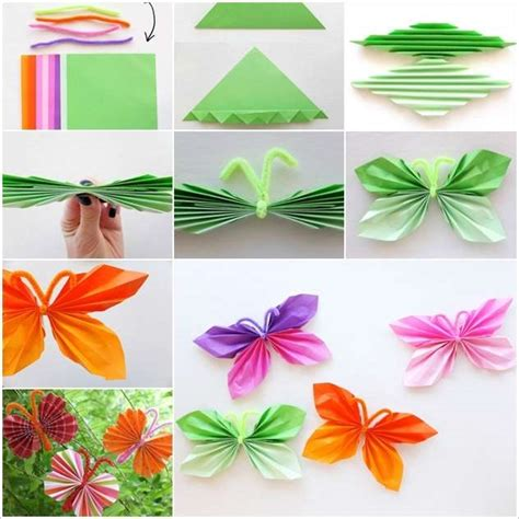 Craft Paper Butterflies - how beautiful and easy these folded paper butterflies are