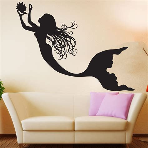 mermaid wall sticker mermaid wall decal decor nursery sticker mermaid wall