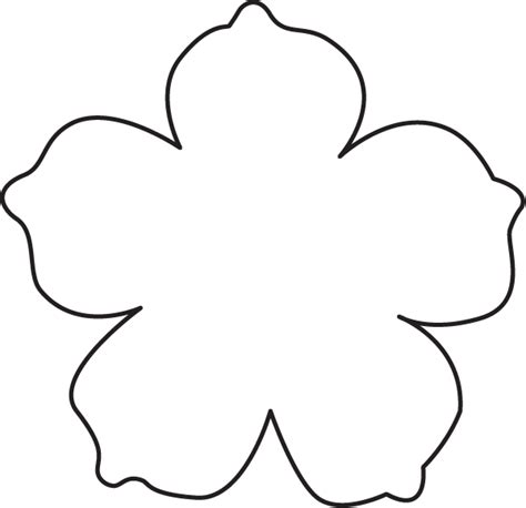 flower petal templates to cut out www imgkid com the