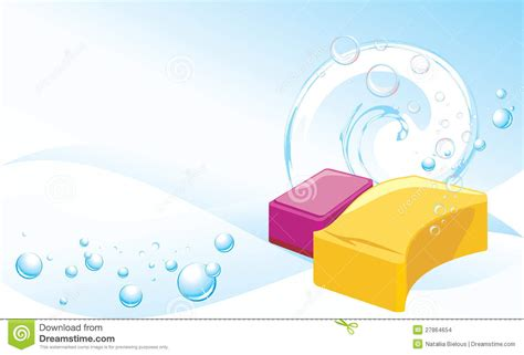 sponges  soapy bubbles abstract background stock