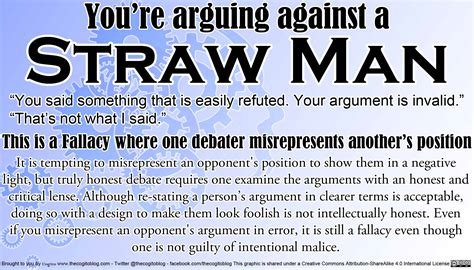 logical fallacy card straw man cogito