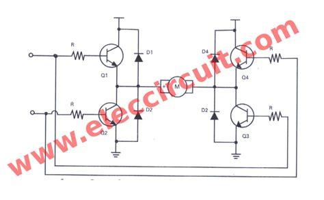 bipolar transistor h bridge basic h bridge motor driver circuit using bipolar transistor