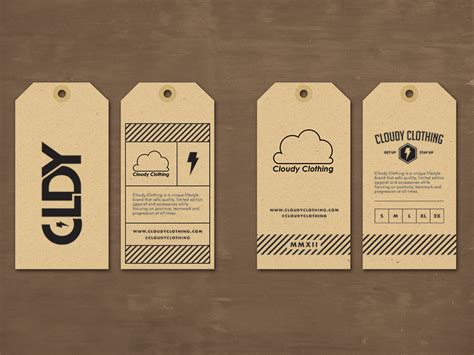 cloudy clothing hang tag by stake your claim dribbble