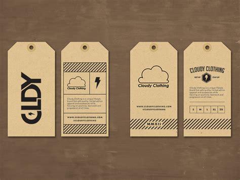 design clothes tag cloudy clothing hang tag by jordan mahaffey dribbble