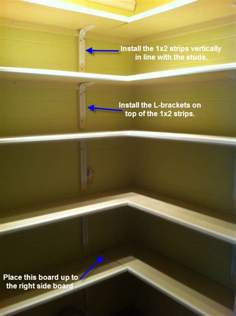 How To Install On L once upon a cedar house how to install pantry shelves