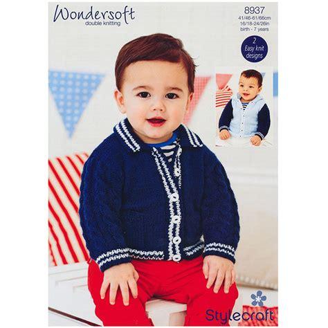 Fashion Boy Mc 9 I Bs3106 baby boy s jacket with in stylecraft wondersoft dk 8937