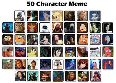 All Meme Characters - 50 character meme by regretfuldragon on deviantart
